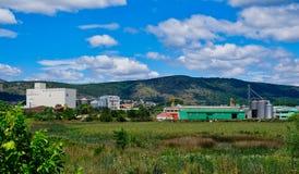 Ländliches Erzeugnis-Verarbeitungsanlage, Albanien stockfoto
