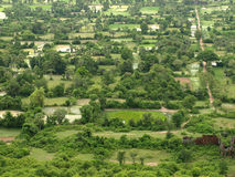 Ländliches Gebiet von Kambodscha lizenzfreies stockfoto