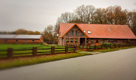 Ländliches Haus in Deutschland Lizenzfreie Stockbilder