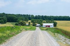 Ländliches Land-York County Pennsylvania Ackerland, an einem Sommer-Tag stockfoto