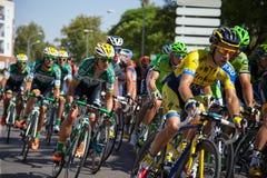 Ländliches Team Caja - Stadium 2 Spaniens Vuelta 2014 Lizenzfreies Stockbild