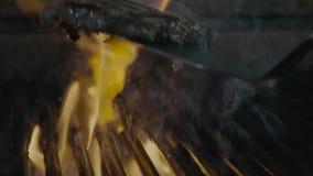 Ländstycket åldras främsta sällsynt stek isolerade att grilla grisköttfileten med band lager videofilmer