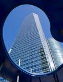 Längd av skyskrapan arkivbild