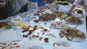 Längd i fot räknat av flera personer som tar mat på deras plattor från en svensk tabell arkivfilmer