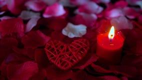 Längd i fot räknat av rosa kronblad, stearinljusbränningen och garneringvalentin vektor för valentin för pardagillustration älska