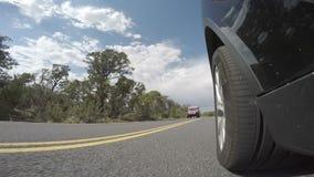 Längd i fot räknat för bilkörning arkivfilmer