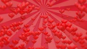 Längd i fot räknat för dag för valentin` s röd arkivfilmer