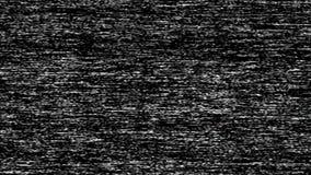 Längd i fot räknat för VHS TVoväsen, svartvit verklig parallell tappningsignal med dålig störning, statisk oväsenbakgrund arkivfilmer