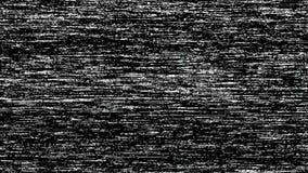 Längd i fot räknat för VHS TVoväsen, svartvit verklig parallell tappningsignal med dålig störning, statisk oväsenbakgrund stock video