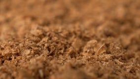 Längd i fot räknat roterar torr kryddasaffranbakgrund stock video