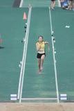 längdhopp under den 6th Hong Kong Games Royaltyfria Foton