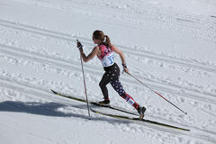 Längdlöpning skidar Arkivfoto