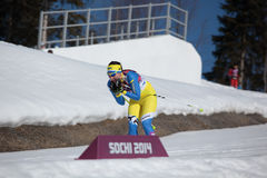 Längdlöpning skidar Royaltyfri Foto