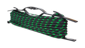 Länge des Seils mit Halterung stockfoto
