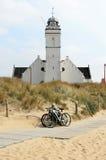 längs andreas kyrkliga dyner gammala holland fotografering för bildbyråer