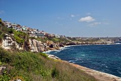 längs Australien coast klippor österut Royaltyfri Foto