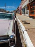 Längs gatan Lowell, Arizona arkivfoto