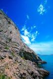 längs klippagolitsyntrail Royaltyfri Bild