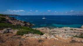 Längs kusten i Majorca Arkivbilder
