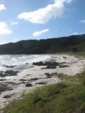 längs strand gå Fotografering för Bildbyråer
