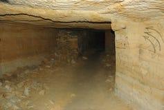 Längst catacombsnätverk i världen, Odessa, Ukraina Arkivbilder