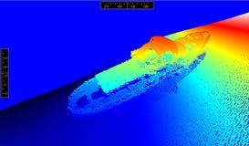 Längst ner av havet Fotografering för Bildbyråer