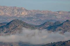Längst ner naturreserv för El Torcal, Malaga Royaltyfri Foto