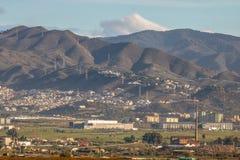 Längst ner naturreserv för El Torcal, Malaga Arkivbilder