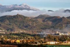 Längst ner naturreserv för El Torcal, Malaga Arkivfoton