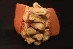länkade ihop handskar Royaltyfria Foton