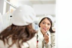 Läppstiftkvinna Royaltyfri Fotografi