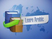 Lär den arabiska designen för bokillustrationen stock illustrationer