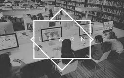 Lär det akademiska lärande studiebegreppet för utbildning vektor illustrationer