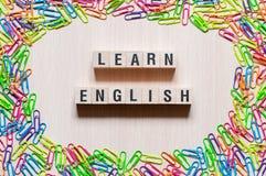 Lär det Eanglish ordbegreppet arkivbild