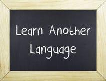Lär ett annat språk royaltyfria foton
