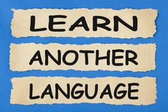 Lär ett annat språkbegrepp fotografering för bildbyråer