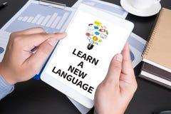 Lär ett nytt språk royaltyfri bild