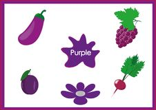 Lär färgerna, ungar lär färgerna, rolig arbetssedel Arkivfoto