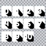 Lär nummer och att räkna för litet barnnummer för ungevektor royaltyfri illustrationer