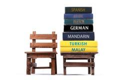 Lär språk tillbaka skola till royaltyfri foto