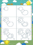 Lära att dra - illustrationen för barnen vektor illustrationer