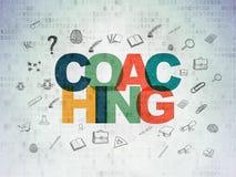 Lära begrepp: Coachning på Digital papper royaltyfri foto