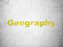 Lära begrepp: Geografi på väggbakgrund royaltyfri fotografi