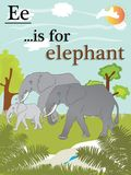 Lära det lätt alfabetet som är snabbt och royaltyfri illustrationer