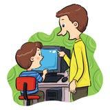 Lära för dator Royaltyfri Illustrationer
