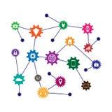 Lära för maskin och internet av saker Arkivfoto
