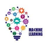 Lära för maskin och internet av saker Arkivbild