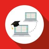 Lära grafisk design, vektorillustration Arkivbilder