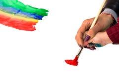 lära målarfärg till Arkivbilder