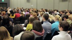 Lära på ett finansiellt forum lager videofilmer